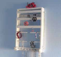 Jewelry Holder  Wall Mounted  Organize Earrings by ImproveResults, $39.95