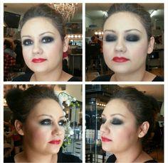 Smokey eye beauty makeup
