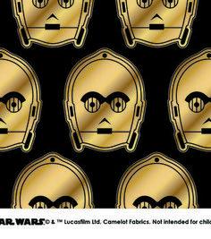 Star Wars™ Metallic C3PO Cotton Fabric