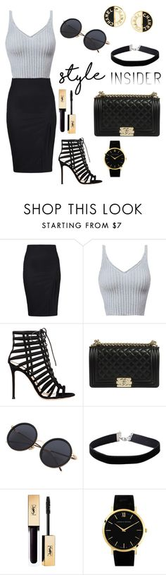 """""""lace-up sandals"""" by elinevanhoutx ❤ liked on Polyvore featuring Gianvito Rossi, Miss Selfridge, Larsson & Jennings, Chanel, contestentry, laceupsandals and PVStyleInsiderContest"""