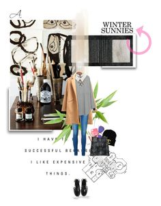 """""""I like expensive things"""" by ladyperrie ❤ liked on Polyvore featuring Chicnova Fashion, Vero Moda, Ray-Ban, Jil Sander, Erickson Beamon, Underground and GotoWinterSunnies"""