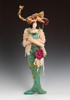 fiber art doll by Katie gardenia