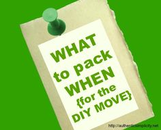 a checklist that helps you organize your packing, starting 4 weeks out - Find out What to Pack When!