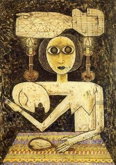 Victor Brauner _ for a moment i sat silenced, taking it all in. Should i place this photo under Art or Brilliant? Outsider Art, Victor Brauner, Mundo Hippie, Art Of Noise, Art Brut, Jewish Art, Illustration, Naive Art, Magritte