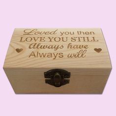 Always Will Engraved Little Box with engraving for weddings Cape Town South Africa - Polkadot Box