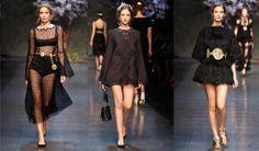 Dolce & Gabbana Spring 2014 Ready-to-Wear Collection - Vogue Dark Fashion, Love Fashion, Runway Fashion, High Fashion, Fashion Show, Womens Fashion, Fashion Design, Fashion Trends, Milan Fashion