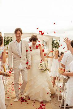 All White Beach Wedding In Spain