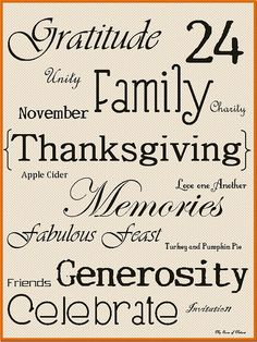 Perfect printable for Thanksgiving.
