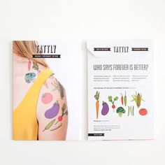 yup!  Designy Temporary Tattoos Made in the US, shipped around the world!  Vegetable Set!