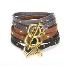 leather jewlery - wrap bracelet