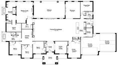 Floor Plan Friday: 5 bedroom acreage home Good use of space around a central family area