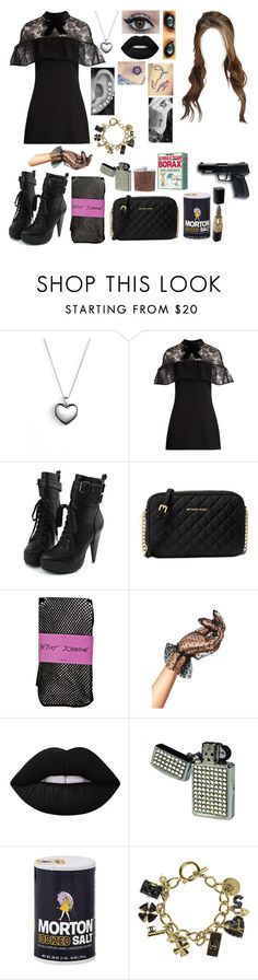 """Untitled #661"" by skh-siera18 ❤ liked on Polyvore featuring Pandora, self-portrait, Michael Kors, Betsey Johnson, Leg Avenue, Lime Crime, All Black, Disney and Chanel"