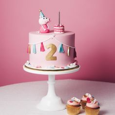 The cutest birthday cake! 2nd Birthday Cake Girl, Peppa Pig Birthday Cake, Cute Birthday Cakes, Bolo Da Peppa Pig, Little Girl Cakes, Drip Cakes, Celebration Cakes, Cupcake Cakes, Cake Decorating