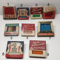 36th Birthday, Vintage Candles, Vintage Box, Birthday Candles, Coasters, Ship, Instagram, Coaster, Ships