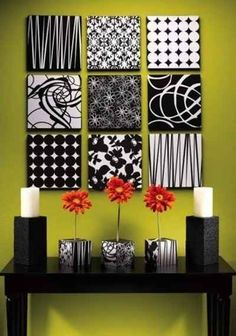 Use styrofoam and fabric to make customized canvases.