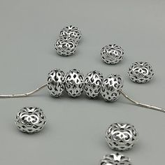 Jewel Tie 925 Sterling Silver Medium Satin Number 1 9mm x 22mm