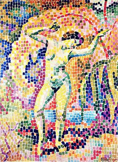Jean Metzinger, 1906, La dance (Bacchante), oil on canvas, 73 x 54 cm