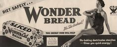 "In 1928, Wonder Bread was released one year after sliced bread was invented. This was the first company to take sliced bread and sell it. As when the the bread slicer was released, people would cut bread at home. ""Alex-Jordan"""