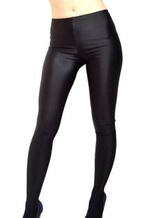 8420120ed Black footed spandex leggings   tights