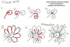 How to draw Paisley Flower 17 by *Quaddles-Roost on deviantART