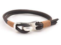 мужчины деревенский кожаный браслет * коричневый кожаный браслет * подарки для папы * Мужчинам Подарки * мужчины ювелирные изделия