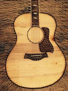 Taylor 818 Acoustic Guitar String Art