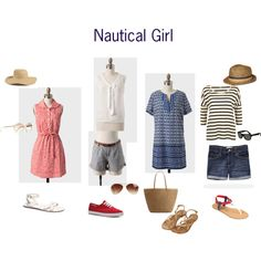 Nautical Girl by lesliekerr, via Polyvore