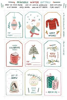 Adorable Free Printable Winter Gift Tags, click through for other designs!