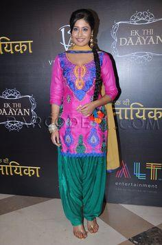 Kritika Kamra wore a colorful patiyala outfit