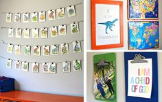 fun and easy way to keep up with and display the children's current obsessions