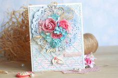 Roses card - Scrapbook.com - Beautiful handmade card!