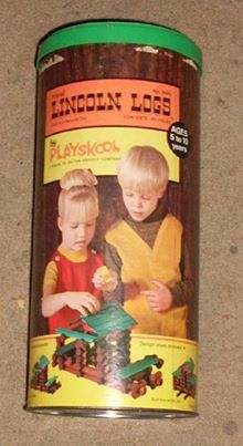 Lincoln Logs...you could make a simple see-saw catapult and lauch one of the little logs like a missle!