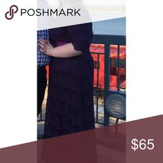 Dainty Jewells Dress Plum colored, floor length Dainty Jewells Dress. Size XXL but fits like XL. Lace is turning white on ends but is expected with these dresses. Sash is included Dainty Jewells Dresses Maxi