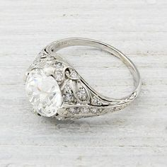 2.03 Carat Vintage Engagement Ring | Erstwhile Jewelry Co. wow $37,000