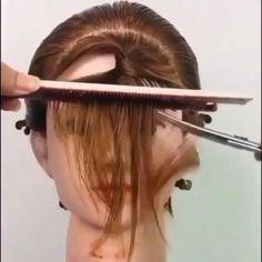 Hair Cutting Videos, Hair Cutting Techniques, Hair Videos, Front Hair Styles, Medium Hair Styles, Curly Hair Styles, Hairdo For Long Hair, Easy Hairstyles For Long Hair, Funky Hairstyles