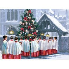 Choir Boys - Pack of 10 cards with envelopes, £5, 175mm x 120mm. Message reads: With Best Wishes for Christmas and the New Year