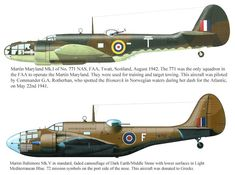 Martin Maryland And Baltimore Ww2 Aircraft, Military Aircraft, Fighting Plane, Aircraft Painting, Ww2 Planes, Camouflage, Battle Of Britain, Military Equipment, Royal Air Force