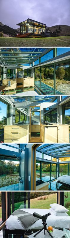 A beautiful glass tiny house you can rent on Airbnb in New Zealand