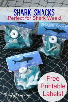 DIY Shark Snacks with Free Printable Labels - Perfect for Shark Week!