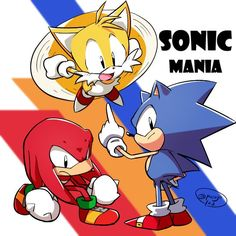 Sonic Mania <<< To be honest with ya, I have yet to completely finish a Classic Sonic game. Probably because the versions I have are kind of.annoying to get to? I'm hoping Sonic Mania will help me change that! Sonic Mania, Sonic 3, Sonic Fan Art, Sonic The Hedgehog, Shadow The Hedgehog, Sonic & Knuckles, Classic Sonic, Mario, Sonic Franchise
