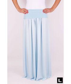 Maxi sukňa svetlomodrá