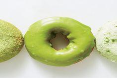 56389980 matcha-doughnuts / Photo by Ted Cavanaugh.