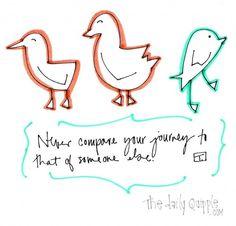 never compare