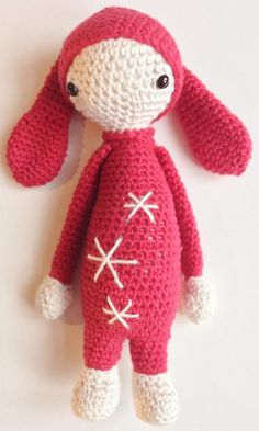 Gratis opskrift på hæklet mini lalylala kanin inspireret af Lalylala