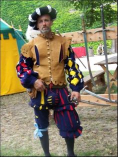 Landsknecht with leather jerkin