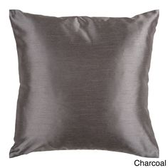 Decorative Chic Removable Cover 18-inch Square Solid Throw Pillow | Overstock.com Shopping - The Best Deals on Throw Pillows