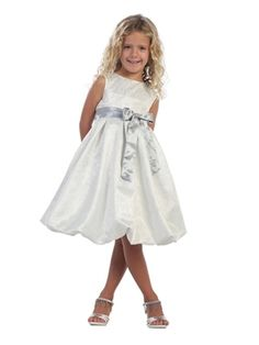 Baby Doll Dress with Ribbon by Kids Formal