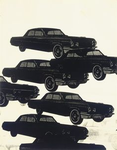Andy Warhol (American, 1928-1987), Untitled (Cars), 1962. Screenprint on paper, 24 x 18 in.