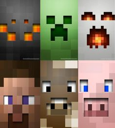 minecraft printables | face-minecraft by ~smoke128 on deviantART