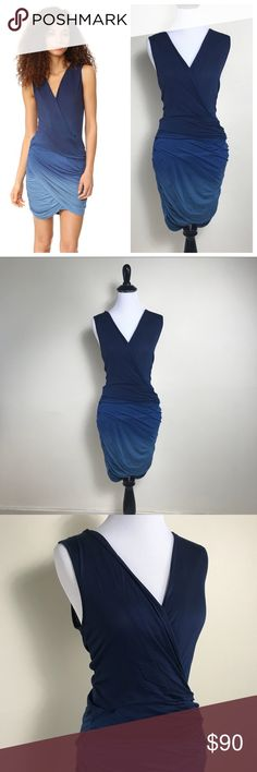 "NWT Young Fabulous Broke S Ruched Cadler Dress You're looking at a beautiful jersey knit dress by Young Fabulous & Broke. Deep faux wrap neckline ; slimming ruched detailing all over ; ombré blue coloring.    Size small  100% modal  Brand new with tags! Please note however this has a ""Nordstrom Rack"" tag & not its original YF&B tag. Young Fabulous & Broke Dresses Mini"